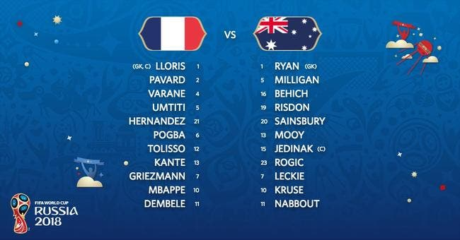 France - Australie : Les compos (12h sur TF1 et BeInSports)