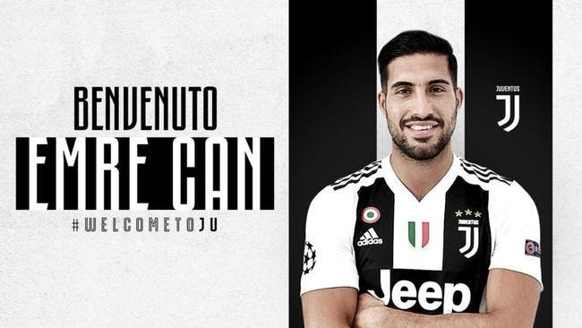 Officiel : Emre Can signe à la Juventus jusqu'en 2022