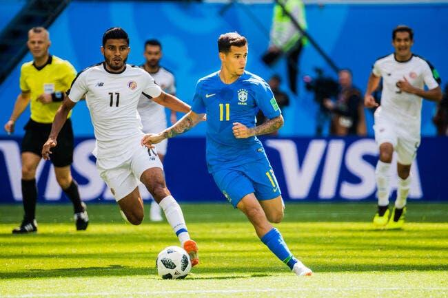 Coutinho sauve le Brésil d'un gros bug face au Costa Rica