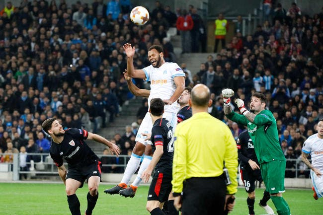 Une attaque Payet-Mitroglou face à l'Athletic Bilbao — OM