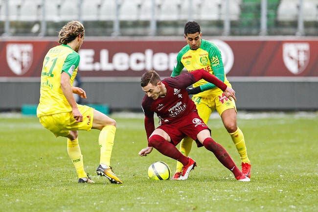 Nantes freine Metz dans sa remontada pour le maintien