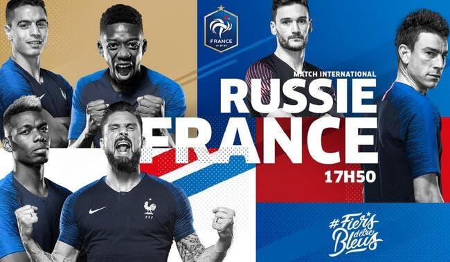 Russie - France : Les compos (17h50 sur TF1)