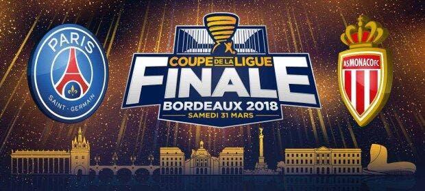 Coupe de la ligue cdl la finale psg monaco affiche - Vente billet finale coupe de la ligue ...