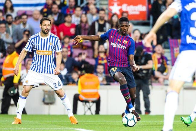 Esp : Le Barça communique sur la blessure de Dembélé