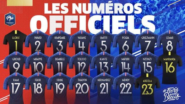 Mondial 2018 : Les numéros officiels des Bleus !