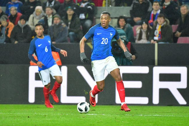 EdF: Deschamps rappelle Anthony Martial en Bleu