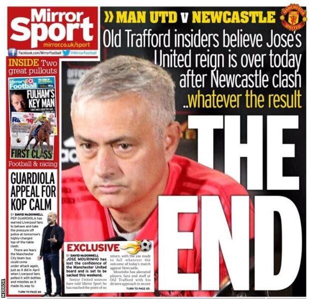 PL : Mourinho viré ce week-end quoi qu'il arrive ?