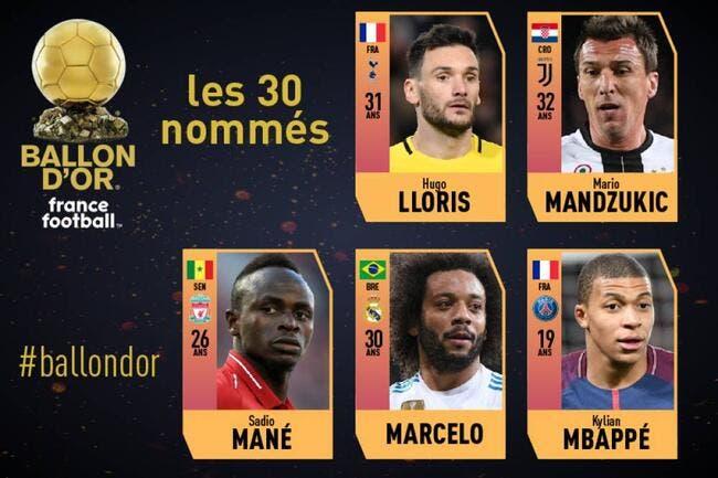 Ballon d'Or : Mbappé et Lloris rejoignent les 30 finalistes
