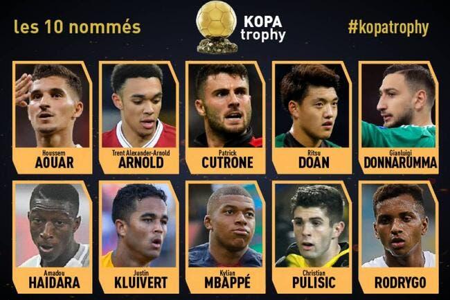 Les nommés pour le trophée Kopa dévoilés