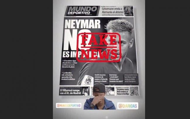 PSG : Neymar clashe la presse espagnole, il reste au PSG