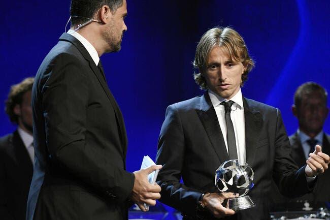 Prix UEFA: Cristianno Ronaldo a bien félicité Modric, même s'il était fâché