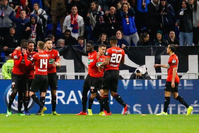 CdF : L'OL peut pleurer, Rennes ira au Stade de France
