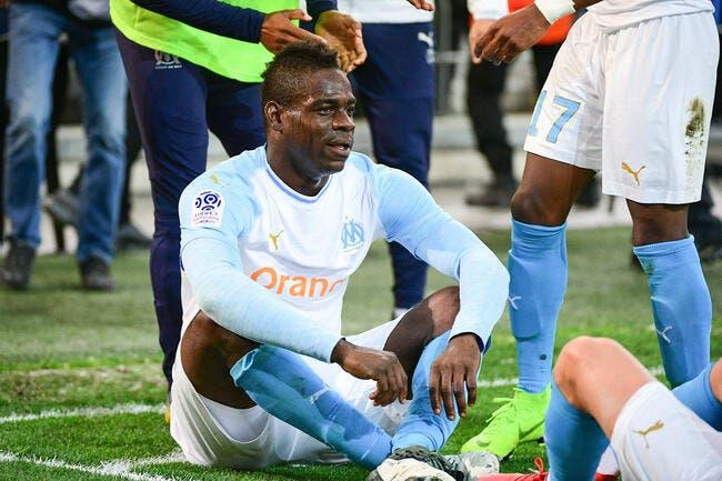 OM : Balotelli blessé, Germain le remplace