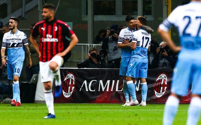 Coupe d'Italie : La Lazio gagne l'AC Milan dans un climat tendu