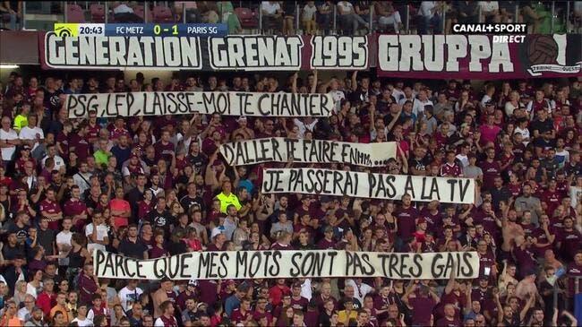 Metz-PSG : Match interrompu pour des banderoles homophobes