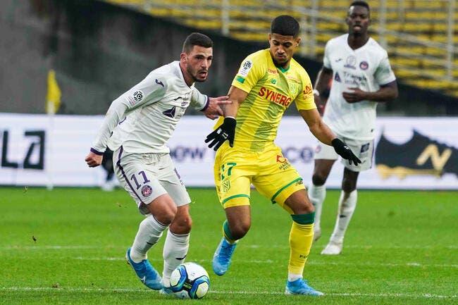 L1 : Pas aidé par l'arbitrage, Toulouse chute à Nantes