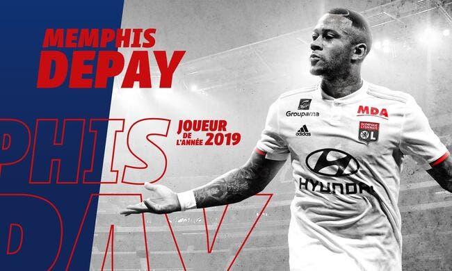 OL : Memphis Depay plébiscité par les supporters lyonnais