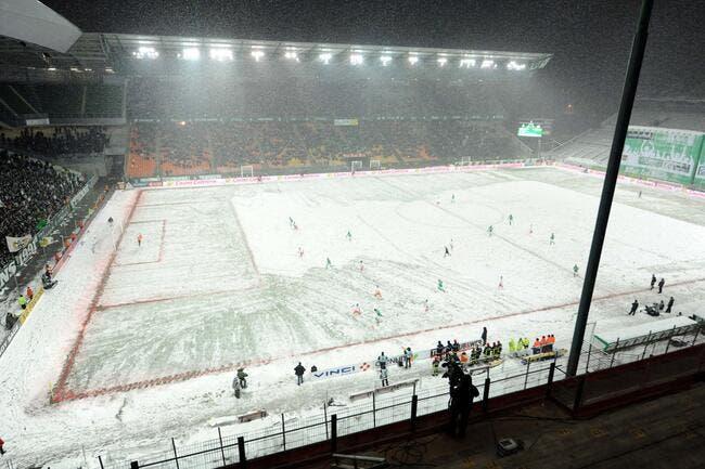 L1 : ASSE-Strasbourg reporté à cause de la neige