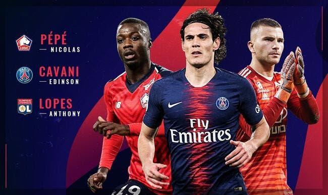 L1 : Un duel PSG-OL-Lille pour le titre de meilleur joueur de janvier