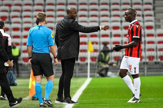 Nice: Danger pour l'OM, Vieira tend la main à Balotelli
