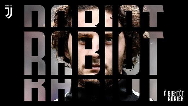 Officiel : Adrien Rabiot signe à la Juventus Turin !