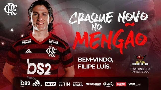 Officiel : Ancienne cible de l'OL, Filipe Luis signe à Flamengo