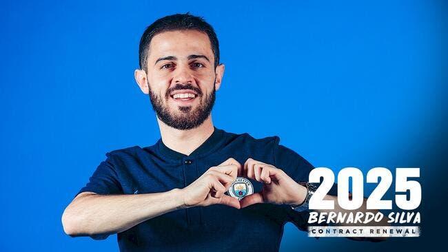 Ang : Bernardo Silva prolonge jusqu'en 2025 à Manchester City