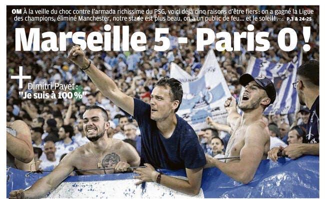 OM : 5-0 pour Marseille, La Provence chambre le PSG !