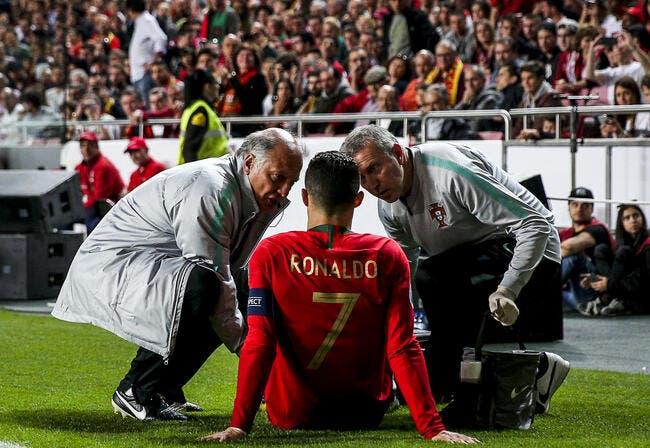 Portugal : Cristiano Ronaldo blessé, il a déjà tout prévu