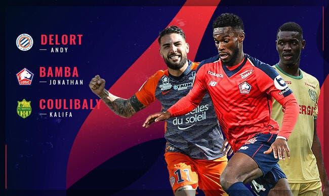 L1 : Delort, Bamba ou Coulibaly, qui sera le joueur du mois d'avril ?
