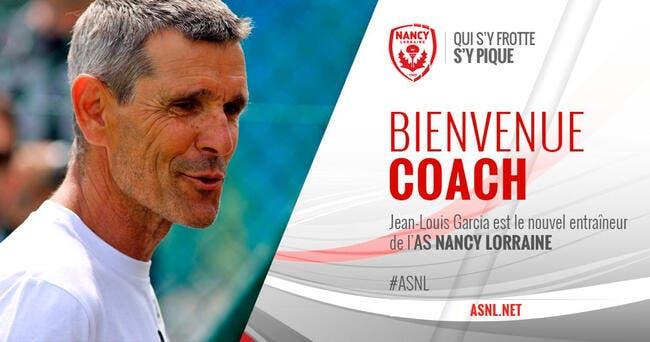 L2 : Jean-Louis Garcia nouvel entraîneur de Nancy