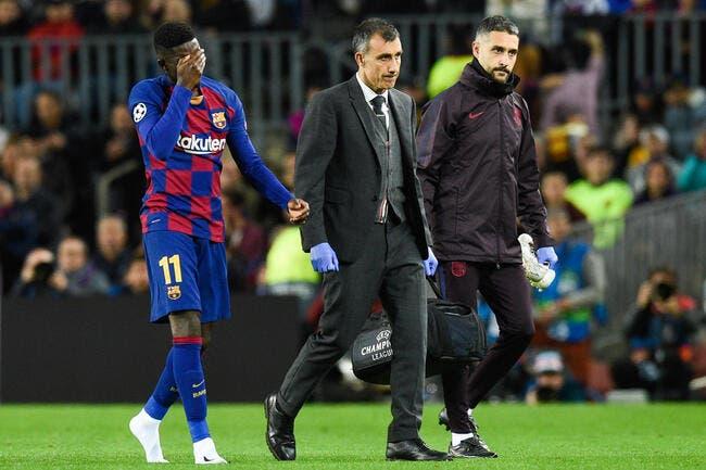 Esp: La blessure de trop pour Dembélé, le Barça craint le pire