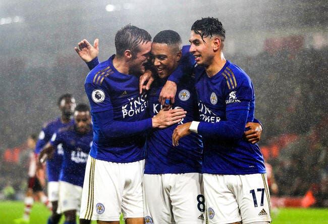 Premier League : Leicester pulvérise Southampton sur le score de 9-0