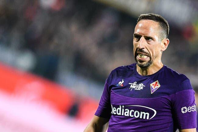 Ita : Ribéry bouscule un arbitre, la Fiorentina tremble
