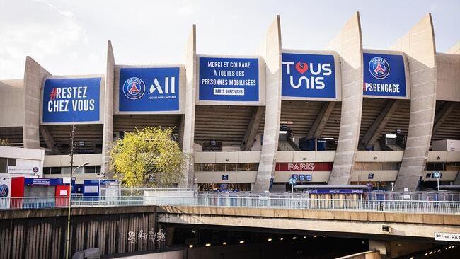 Coronavirus : Le PSG relooke le Parc des Princes, ça claque