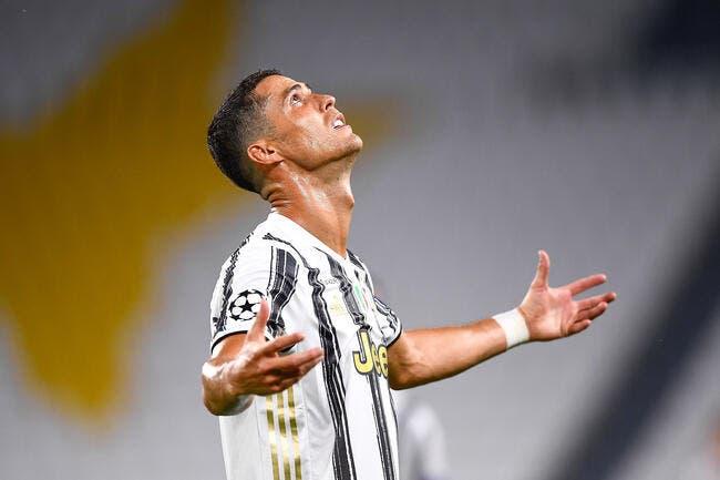 Ita :  Cristiano Ronaldo fou de rage après Juventus-OL