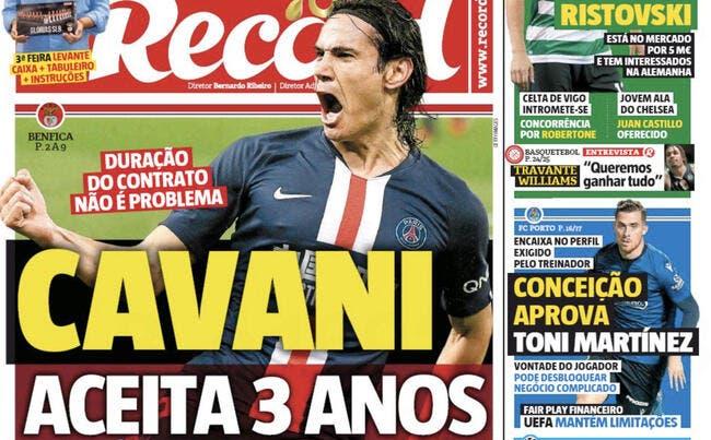 Mercato : Cavani et Benfica, premier accord trouvé jusqu'en 2023 !