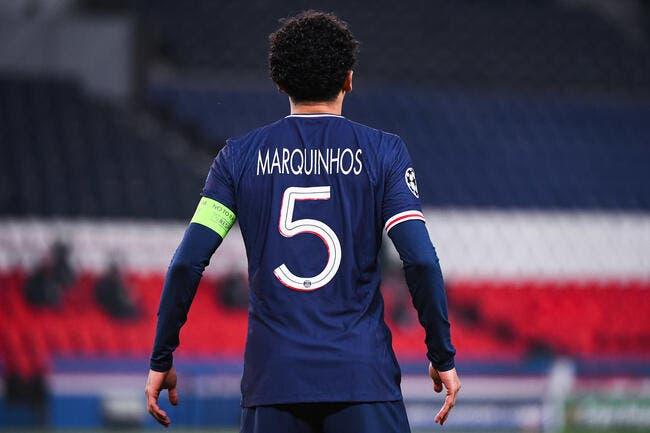 PSG-OL : Marquinhos officiellement forfait !