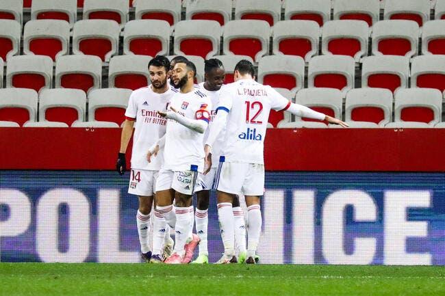 L'OL cartonne Nice et prend la tête de la Ligue 1 !