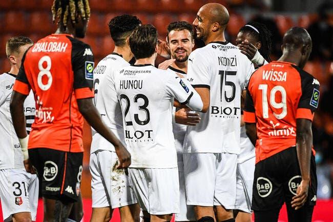 L1 : Rennes déroule, Lorient coule