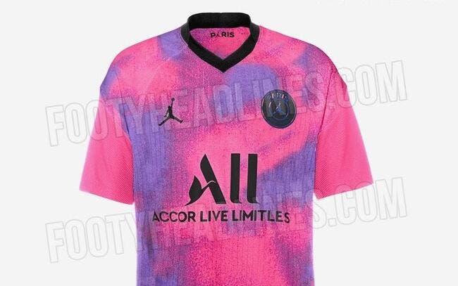Photo : Un nouveau maillot du PSG fuite, c'est très rose