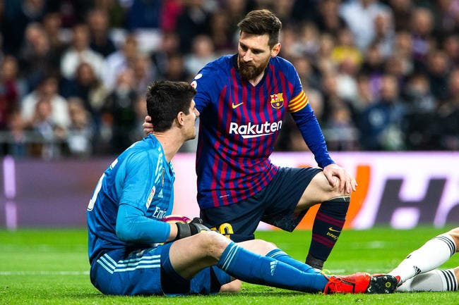Madrid - Barcelone : Courtois provoque Messi, c'est risqué !