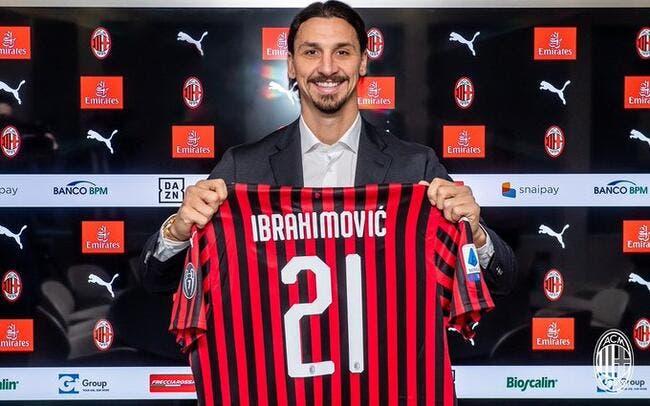 Mercato : Zlatan Ibrahimovic avec son nouveau maillot du Milan AC !