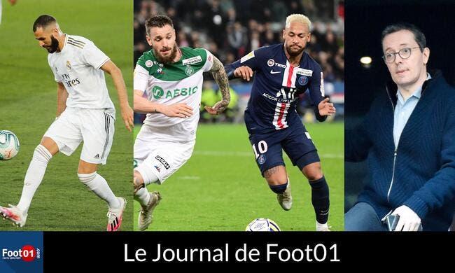 Foot01 News : PSG-ASSE, c'est le retour du FOOT en France, EYRAUD humilié par un banquier