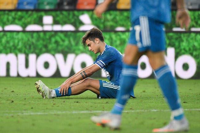 Juventus : Dybala sort sur blessure