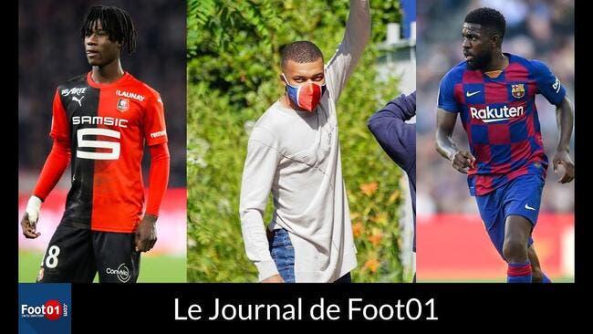 Foot01 News : Le PSG débarque masqué, le mercato de l'OL, CR7 marque son pénalty