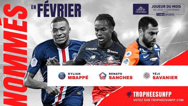 L1 : Mbappé, Sanches ou Savanier, qui sera le joueur de février ?