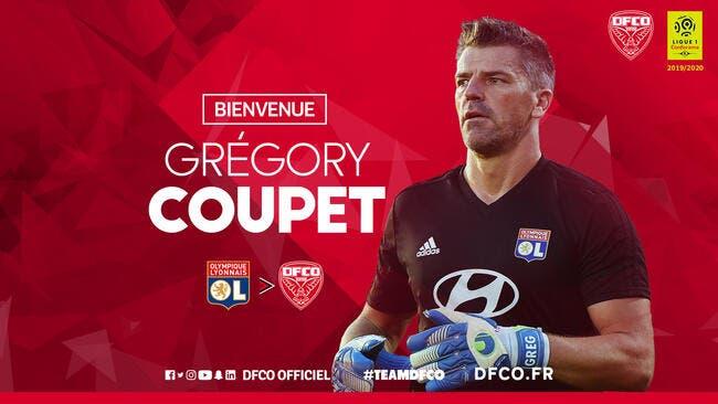L1 : Grégory Coupet quitte Lyon et rejoint Dijon !