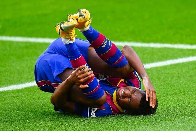 Esp : Le Barça privé d'Ansu Fati pour 4 mois !