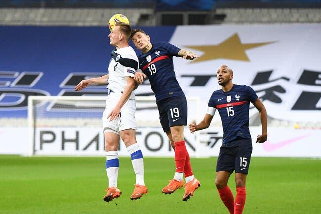 La France menée 0-2 par la Finlande à la pause